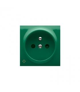 Pokrywa do gniazda pojedynczego z uziemieniem antybakteryjny zielony DGZ1ZP/AB33