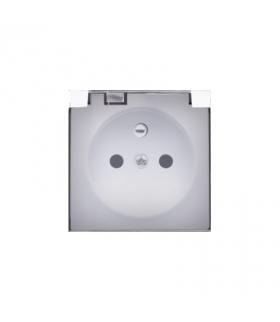 Pokrywa do gniazda z uziemieniem - do wersji IP44- klapka w kolorze transparentnym biały DGZ1BUZP/11A