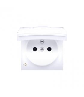 Pokrywa do gniazda z uziemieniem - do wersji IP44- klapka w kolorze pokrywy antybakteryjny biały DGZ1BUZP/AB11