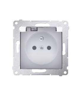 Gniazdo pojedyncze do wersji IP44 - bez uszczelki - klapka transparentna do ramek Nature do ramek Premium (moduł) 16A 250V, zaci