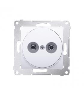 Gniazdo ekwipotencjalne do ramek Nature do ramek Premium (moduł) zaciski śrubowe 2.5, 4, 6 mm2, antybakteryjny biały DGE1.02/AB1