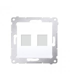 Pokrywa gniazd teleinformatycznych na Keystone płaska podwójna biały DKP2.01/11