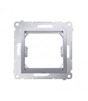 Adapter przejściówka na osprzęt standardu 45×45 mm srebrny mat, metalizowany DA45.01/43