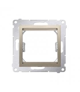 Adapter przejściówka na osprzęt standardu 45×45 mm złoty mat, metalizowany DA45.01/44