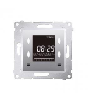 WYCOFANY Z OFERTY, Zegar elektroniczny z wyświetlaczem srebrny mat, metalizowany D75815.01/43