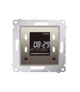 WYCOFANY Z OFERTY, Zegar elektroniczny z wyświetlaczem złoty mat, metalizowany D75815.01/44