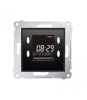 WYCOFANY Z OFERTY, Zegar elektroniczny z wyświetlaczem antracyt, metalizowany D75815.01/48