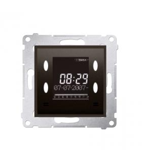 WYCOFANY Z OFERTY, Zegar elektroniczny z wyświetlaczem brąz mat, metalizowany D75815.01/46