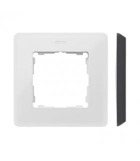 Ramka 1- krotna biały czarny 8200610-200