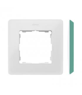 Ramka 1- krotna akwamaryn biały 8200610-202
