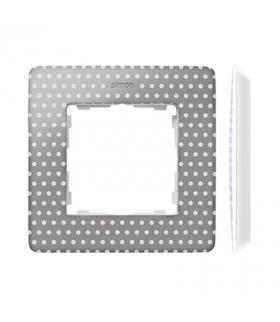 Ramka 1- krotna biały szary ciepły 8200610-211