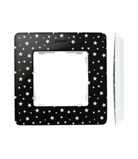 Ramka 1- krotna biały czarny 8200610-222