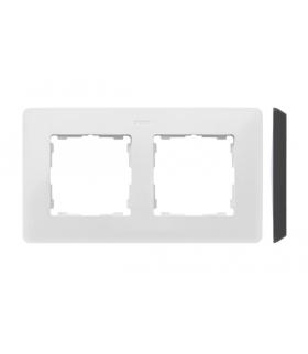 Ramka 2- krotna biały czarny 8200620-200