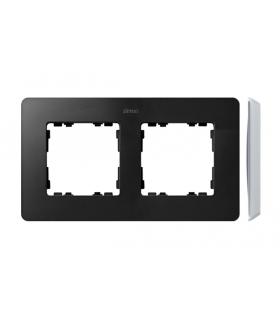 Ramka 2- krotna aluminium grafit 8200620-238
