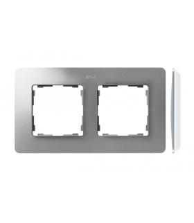 Ramka 2- krotna aluminium biały 8200620-093