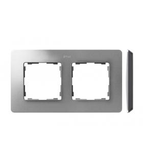 Ramka 2- krotna aluminium czarny 8200620-293