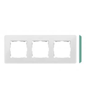 Ramka 3- krotna akwamaryn biały 8200630-202