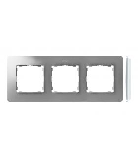 Ramka 3- krotna aluminium biały 8200630-093