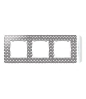 Ramka 3- krotna biały szary ciepły 8200630-211