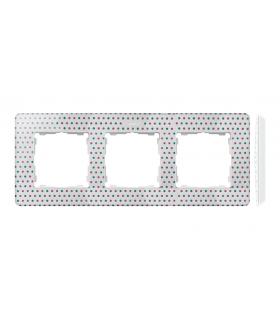 Ramka 3- krotna biały wielobarwny 8200630-210