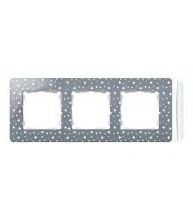 Ramka 3- krotna biały szary zimny 8200630-223