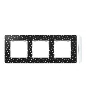 Ramka 3- krotna biały czarny 8200630-222