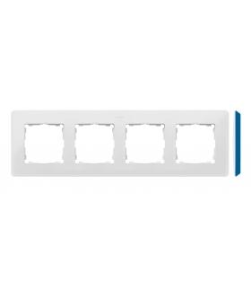 Ramka 4- krotna biały indygo 8200640-201