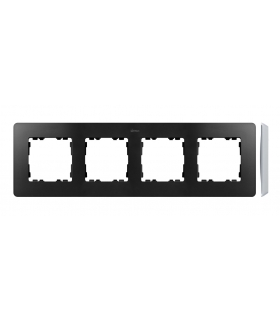 Ramka 4- krotna aluminium grafit 8200640-238