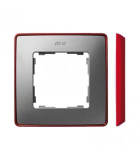 Ramka 1- krotna aluminium zimne czerwony 8201610-255