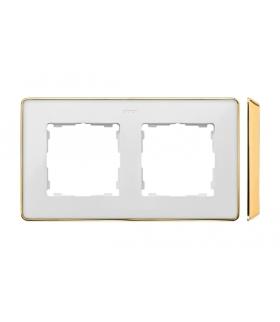 Ramka 2- krotna biały złoty 8201620-245