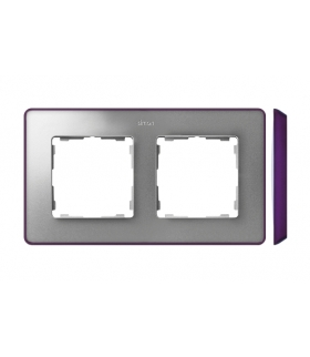 Ramka 2- krotna aluminium zimne fioletowy 8201620-254