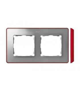 Ramka 2- krotna aluminium zimne czerwony 8201620-255