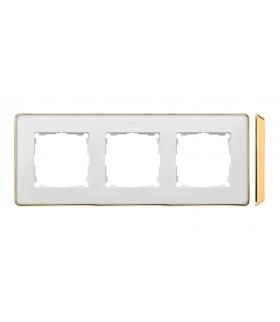 Ramka 3- krotna biały złoty 8201630-245