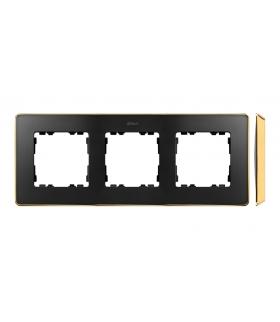 Ramka 3- krotna grafit złoty 8201630-242