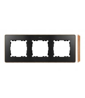 Ramka 3- krotna drewno grafit 8201630-271