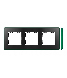 Ramka 3- krotna grafit zielony 8201630-250