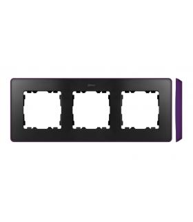 Ramka 3- krotna fioletowy grafit 8201630-251