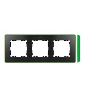 Ramka 3- krotna grafit jasny zielony 8201630-260