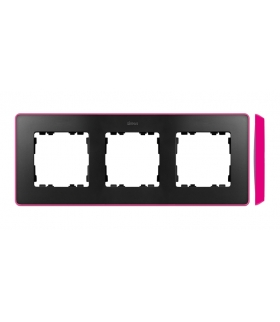 Ramka 3- krotna grafit jasny różowy 8201630-261