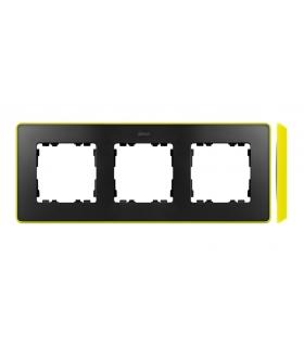 Ramka 3- krotna grafit jasny zielony 8201630-262