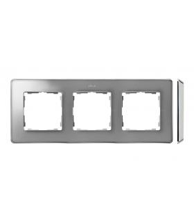 Ramka 3- krotna aluminium zimne chrom 8201630-093