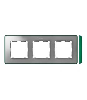 Ramka 3- krotna aluminium zimne zielony 8201630-253