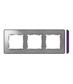Ramka 3- krotna aluminium zimne fioletowy 8201630-254