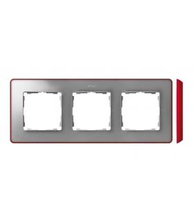 Ramka 3- krotna aluminium zimne czerwony 8201630-255