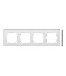 Ramka 4- krotna aluminium biały 8201640-243