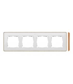 Ramka 4- krotna biały drewno 8201640-270