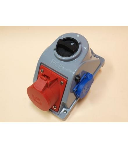 Gniazdo stałe z wyłącznikiem L-0-P 32A 400V 3P+Z+N, gniazdo 230V