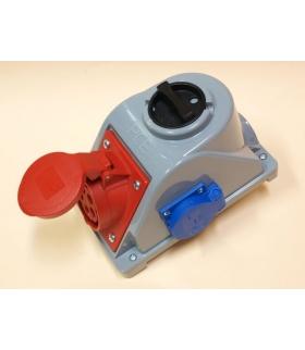 Gniazdo stałe z wyłącznikiem 0-1 32A 400V 3P+Z+N, gniazdo 230V