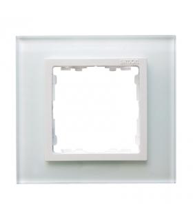 Ramka 1-krotna szklana biały / biała 82617-30