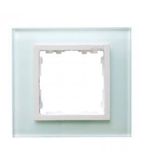 Ramka 1-krotna szklana naturalny / biała 82617-60